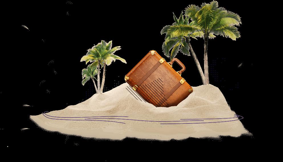 Pagină în vacanță - Insulă